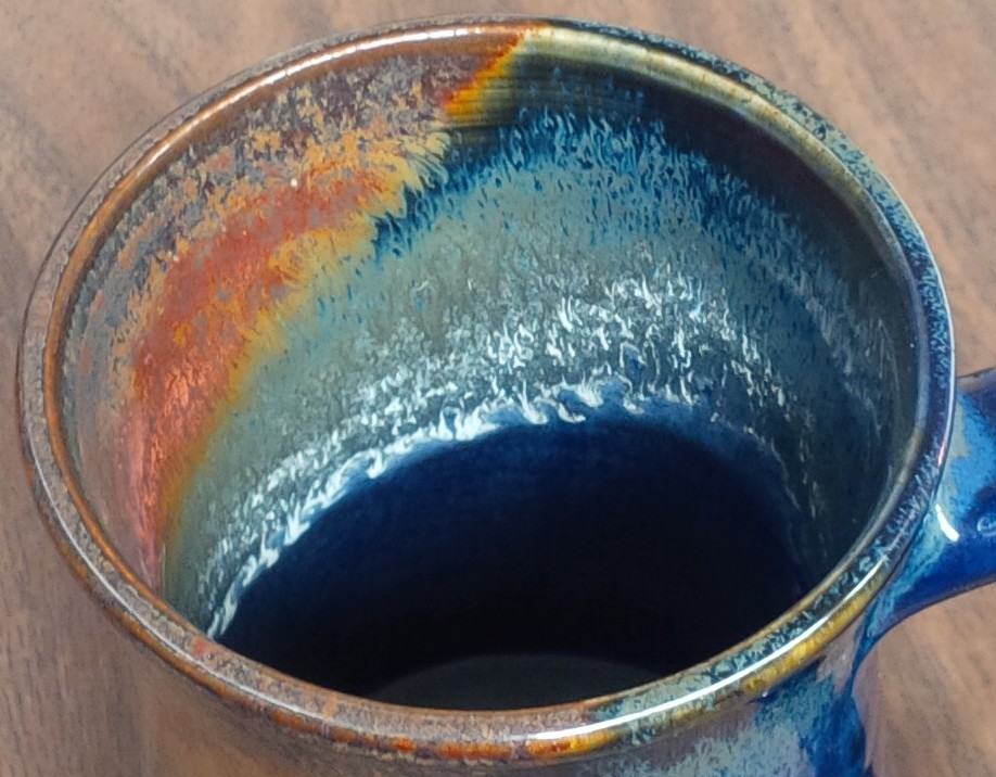 This leaching mug needs a liner glaze. Seriously!