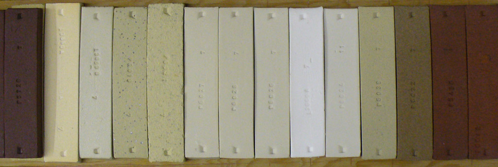 Fired color of a New Zealand based porcelain compared to other bodies