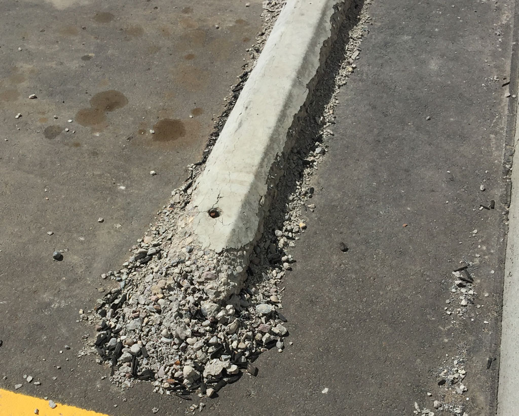 Freeze thaw damage in concrete