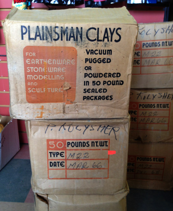Vintage boxes of Plainsman Clay found. From 1966!