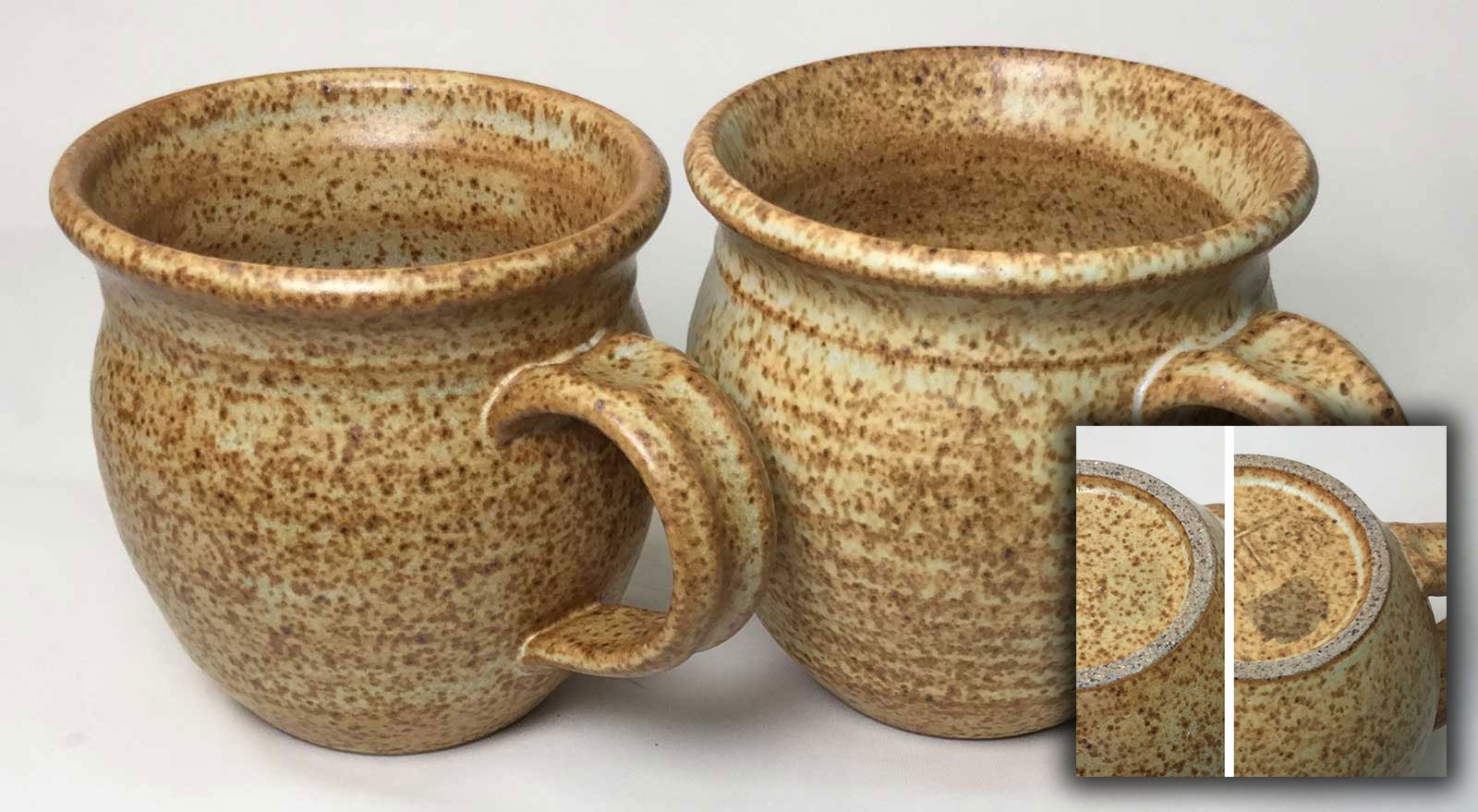 Two cone 10R bamboo glazes. One stains, one does not. Why?
