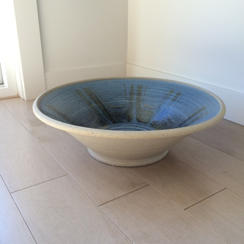 1981 large stoneware bowl made my Tony Hansen