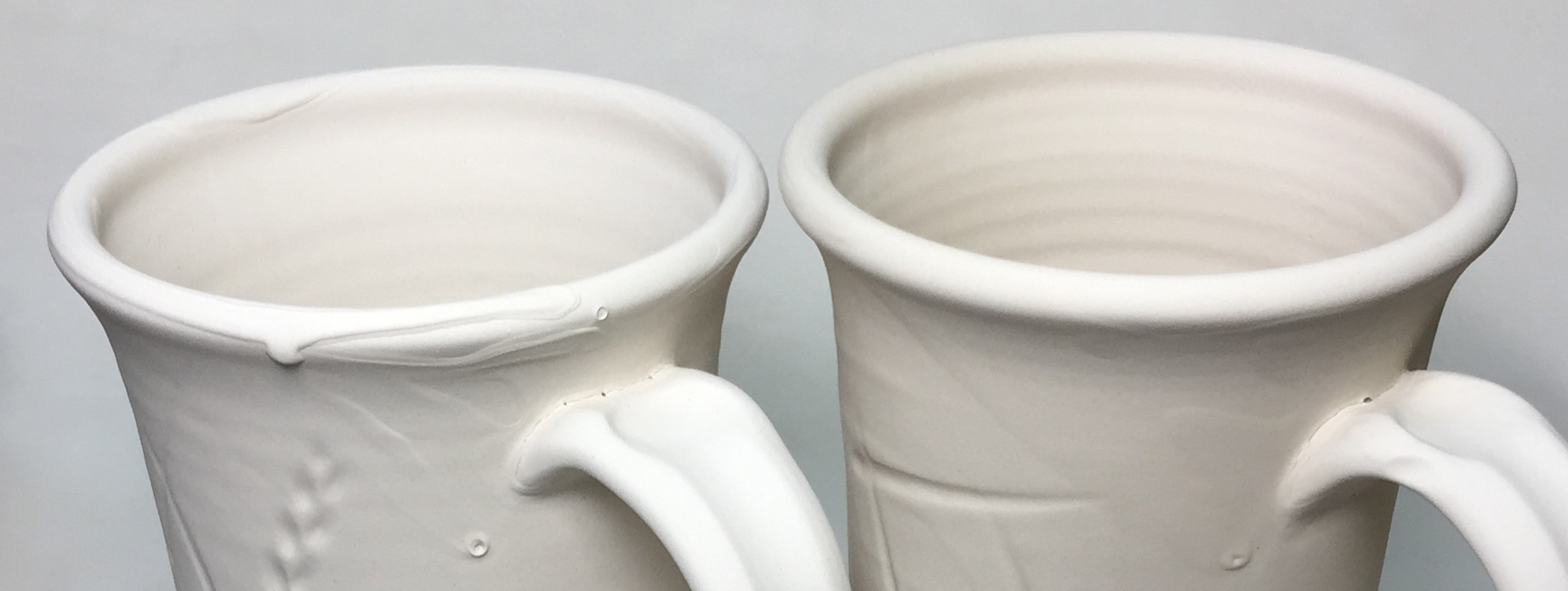 What to do when glazes dry-drip like this on the rims of ware