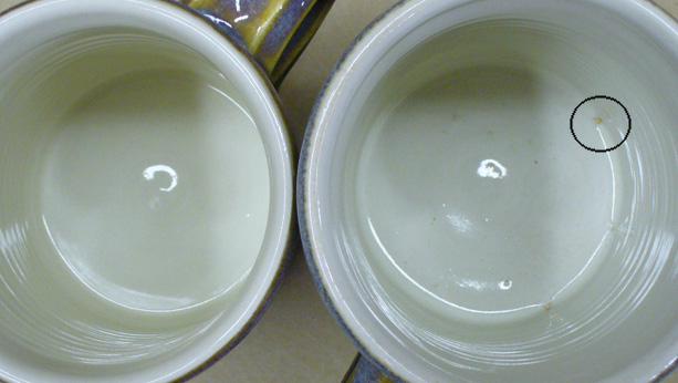 Two glazes. One crawls, the other does not. Why?