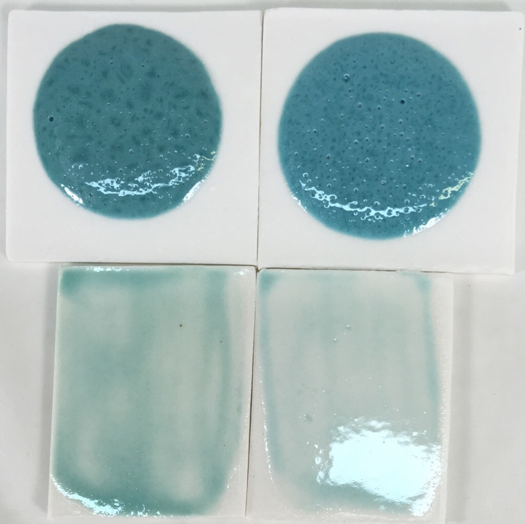 Switching copper carbonate for copper oxide in a fluid glaze
