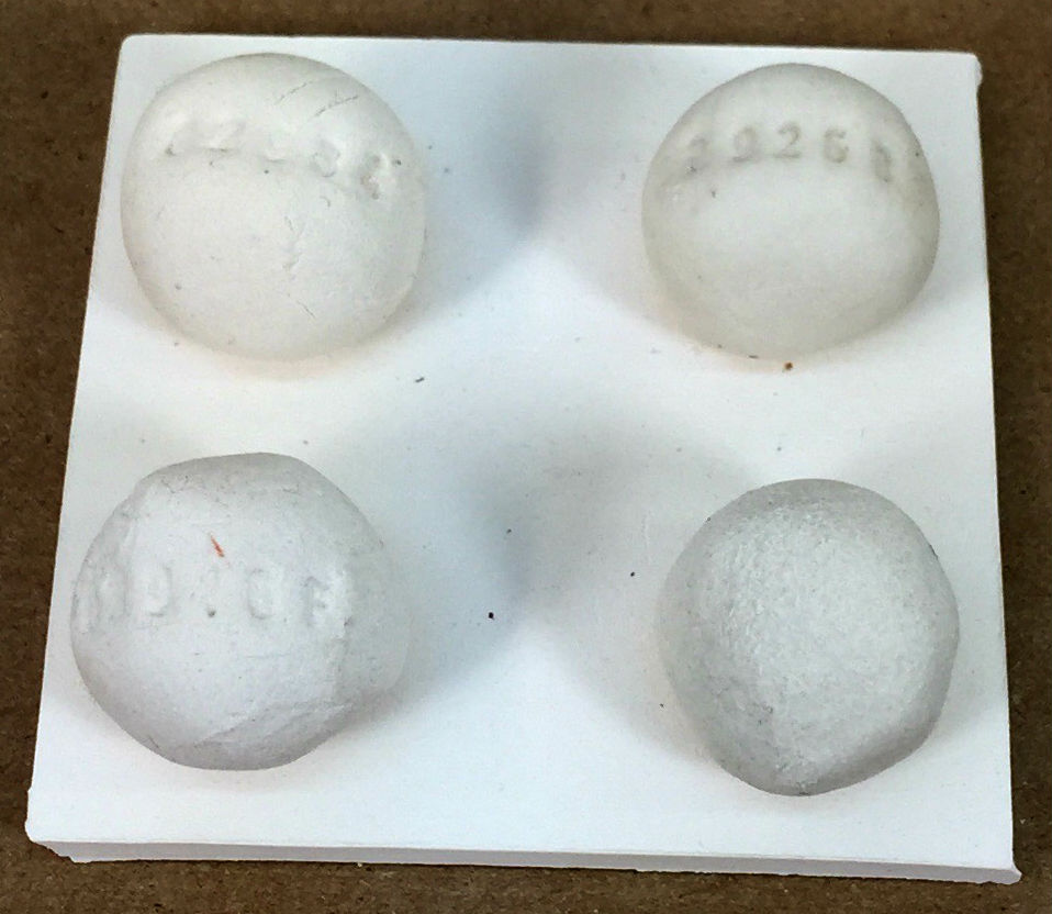 Cone 6 glazes can seal the surface surprisingly early - melt flow balls reveal it