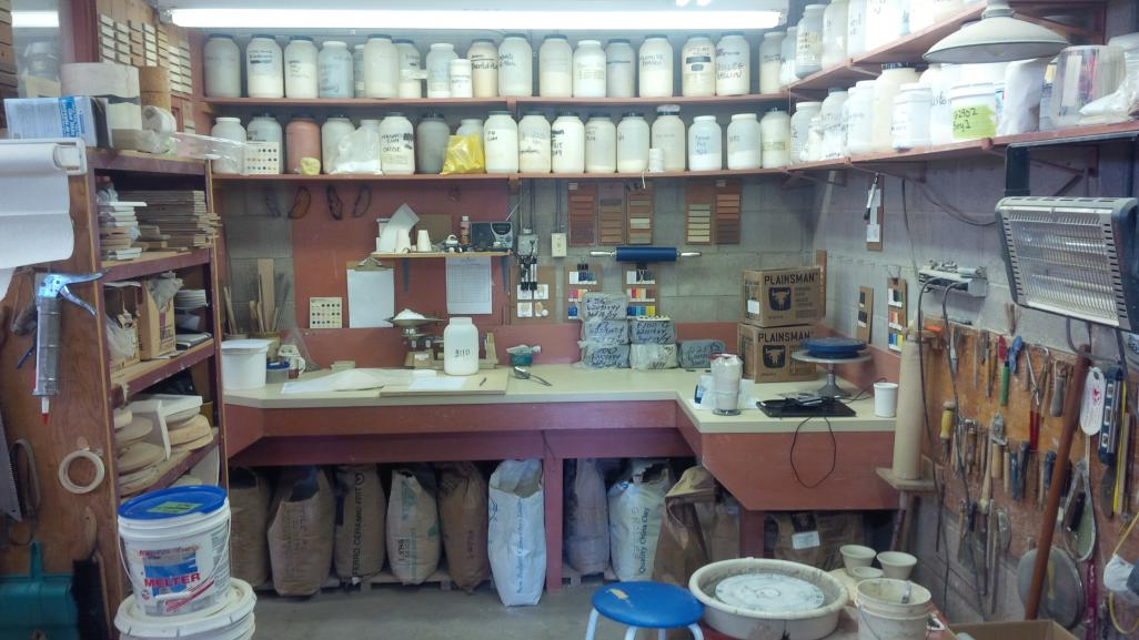 The recipe mixing area of Tony Hansen