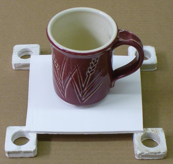 An alumina mini proof-of-concept home-made kiln shelf (5 mm thick)