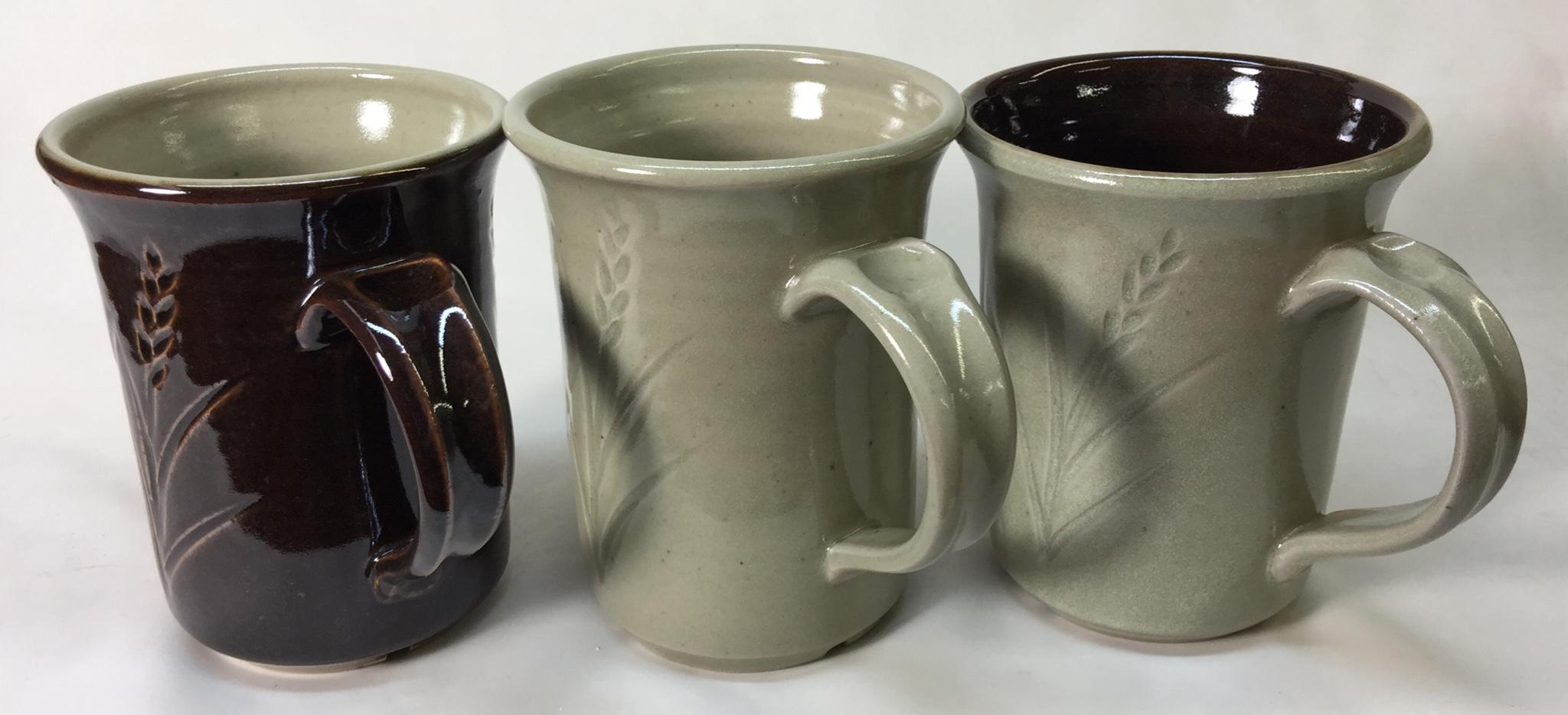 Laguna B-Mix Cone 10R mugs with Alberta and Ravenscrag glazes