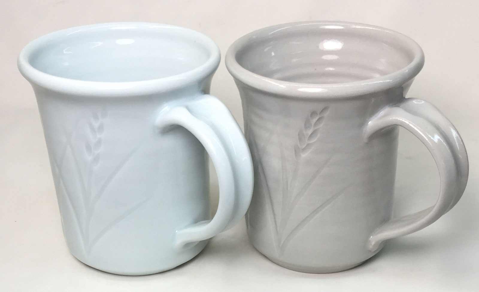 A Grolleg based cone 10R porcelain (left) vs. 25-Porcelain