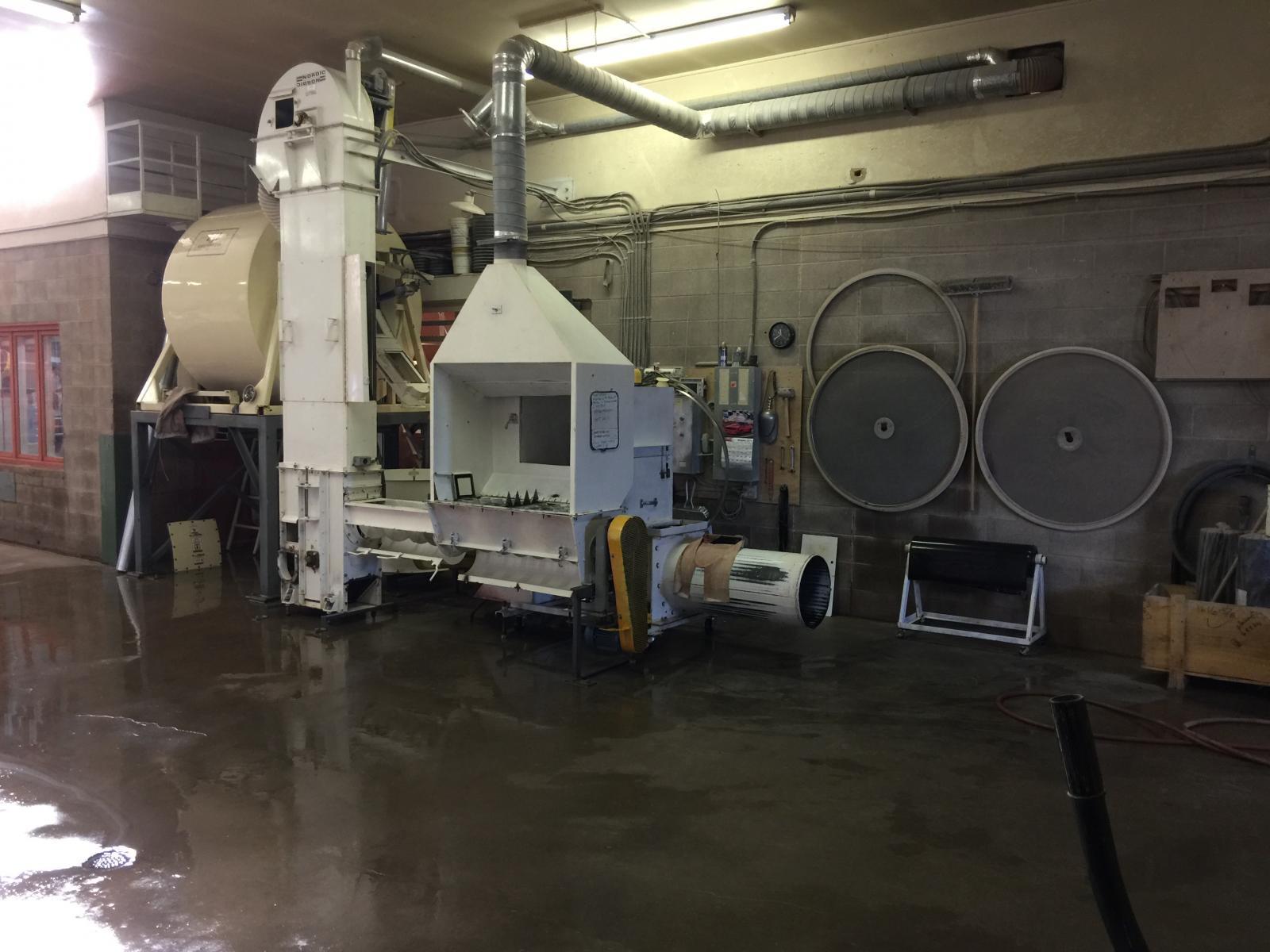 The powder blender for making porcelain bodies at Plainsman Clays