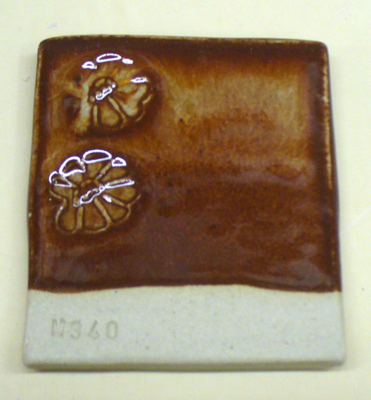 A variation of Albany lithium brown glaze
